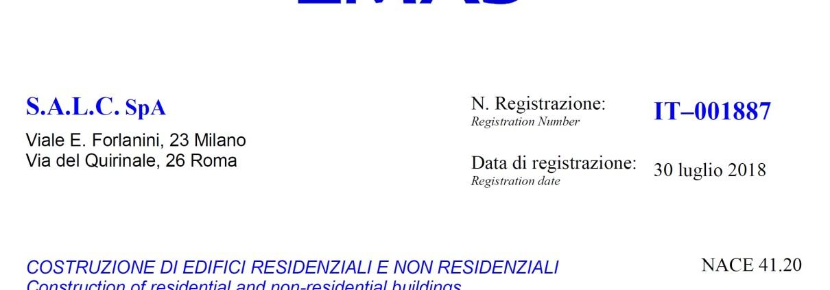 Emas Certificato